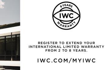 IWC продлевает гарантию на свои часы до 8 лет